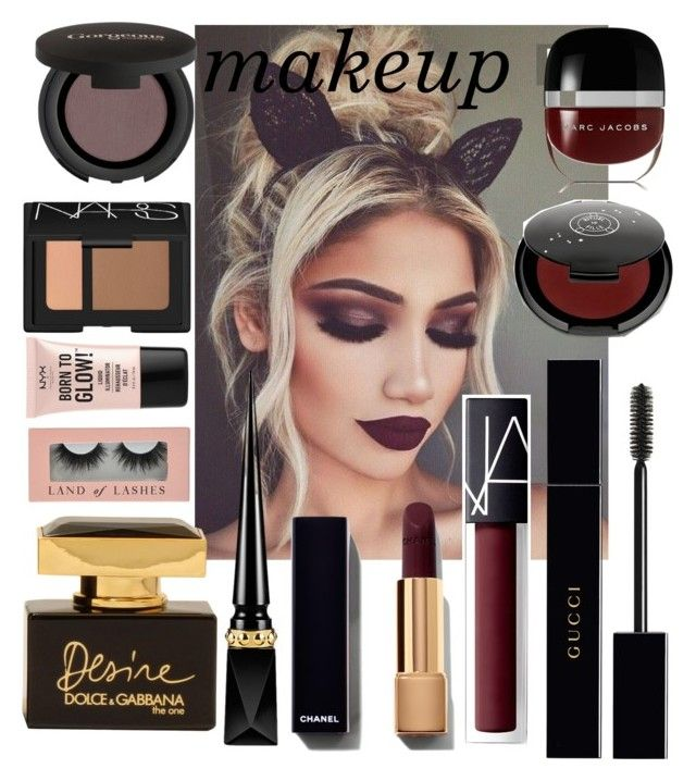 """""""Fall makeup"""" by ccfashionstreet on Polyvore featuring beauty, Marc Jacobs, Rituel de Fille, Gucci, NARS Cosmetics, Gorgeous Cosmetics, NYX, Dolce&Gabbana, Christian Louboutin and Fall"""