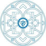 Mandala de Chakra Vishuddha Dibujo para colorear