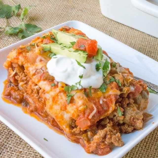 Koolhydraatarme lasagne - Deze verrukkelijke lasagne moet je geprobeerd hebben! Op Mexicaanse wijze bereidt en fris van smaak!