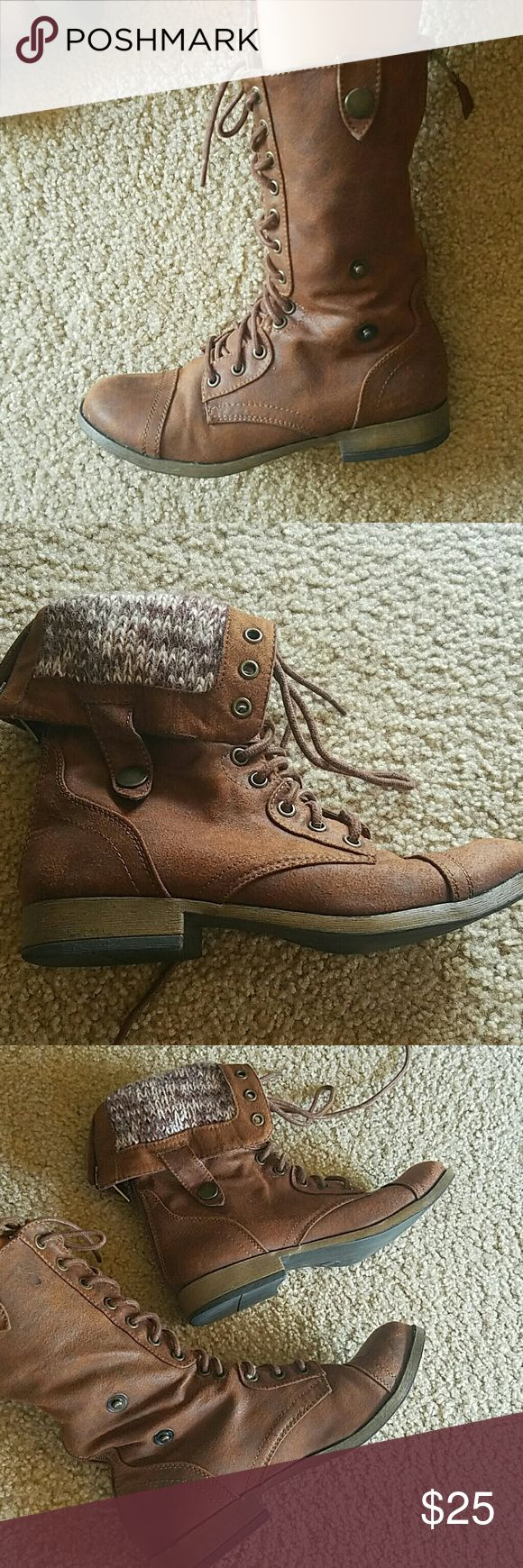 Womens combat boots Like new used once Mossimo Supply Co Shoes Combat & Moto Boots