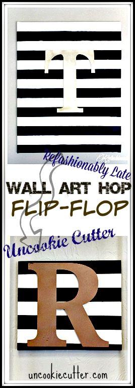 DIY Wall Art Hop Flip Flop - Uncookiecutter.com