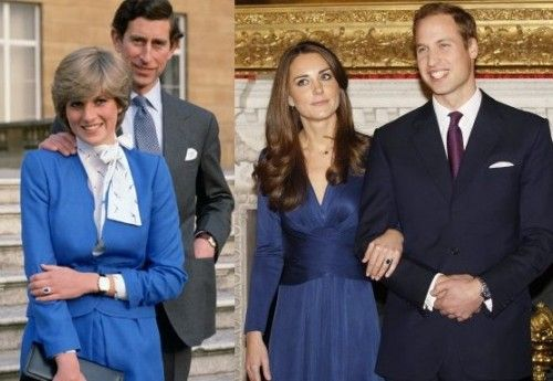 Abito blu fidanzamento kate princess