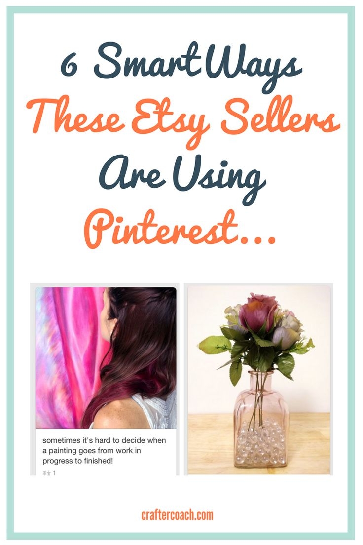 Check out the 6 Smart Ways These Etsy Sellers Are Growing Their Shops With Pinterest. Read more at http://craftercoach.com/etsy-sellers-using-pinterest/