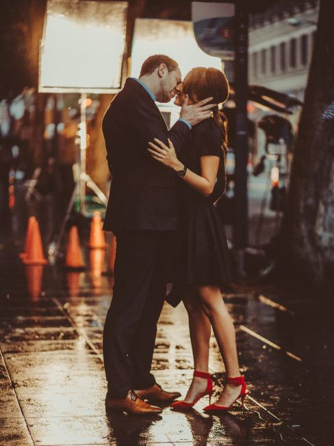 Downtown Los Angeles Wedding Photographer; PHOTOGRAPHY by Joel + Justyna Bedford; rainy day Los Angeles Engagement session;