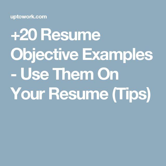best 20 resume objective ideas on pinterest