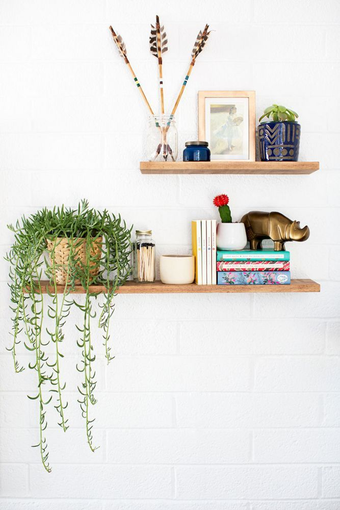 Styled Floating Shelves