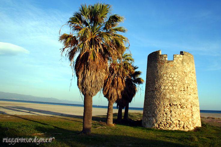 cagliari, torre costiera mezza spiaggia o del poeta
