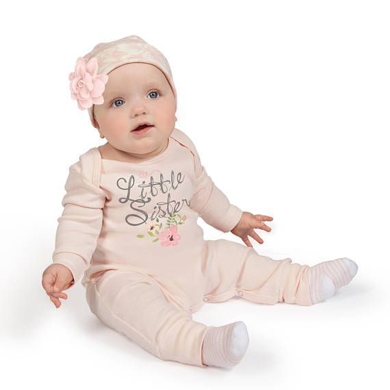 5b57ac3c68e9 Baby Girl Take Home Outfit. This beautiful outfit sports a pink ...