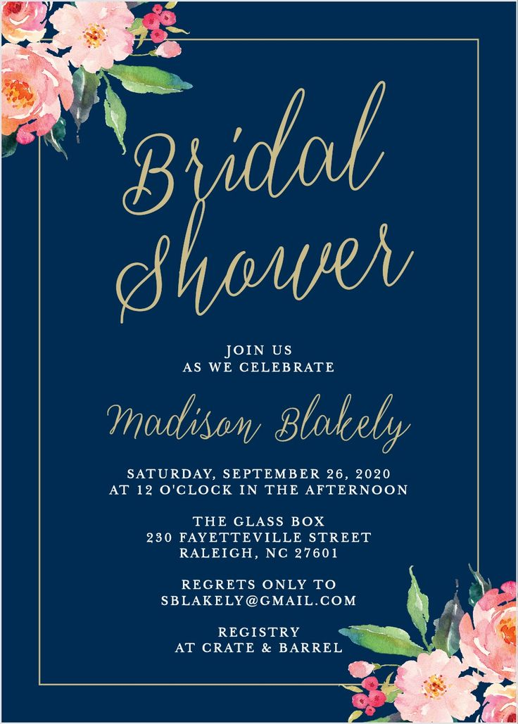 Standing Ovation Bridal Shower Invitations