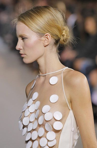 Sheer and spots at the Stella McCartney show www.bibleforfashion.com #bibleforfashion