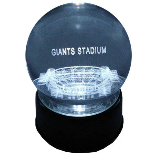 New York Giants Giants Stadium Laser-Etched Musical Lit Crystal Ball  https://allstarsportsfan.com/product/new-york-giants-giants-stadium-laser-etched-musical-lit-crystal-ball/  Solid crystal sphere features your favorite Giants stadium in 3 D High Tech black base that lights up for brillant display. This base as a rotating feature to allow you to appreciate the stadium design from every angle