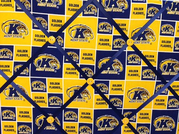 Kent State University Golden Flashes Fabric by rachaelscreations, $20.00