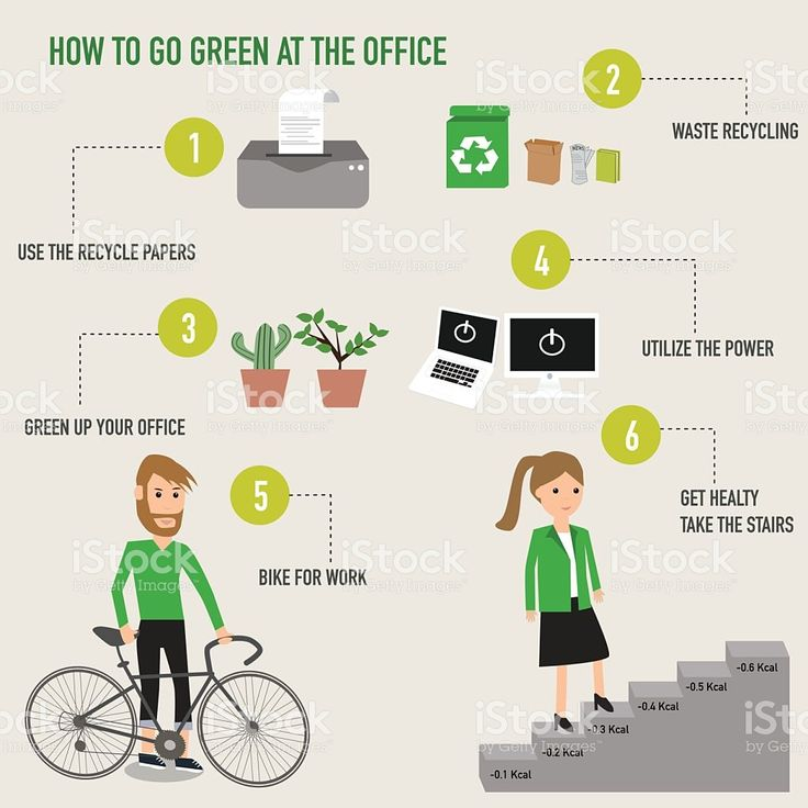 How to go green at the office infographics . illustration EPS10. royalty-free…