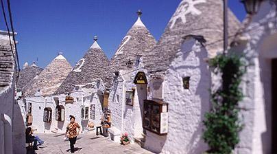 Alberobello, near Puglia, the village known for its