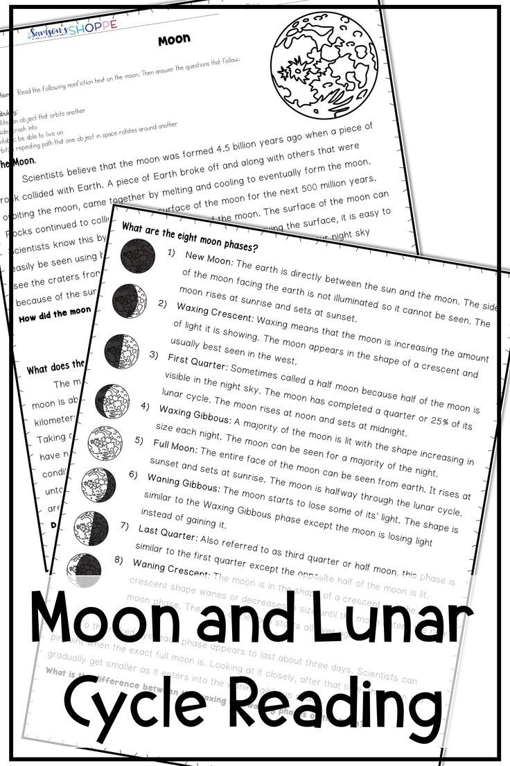Moon Lunar Cycle Inform Your Students Of The Moon And Its Phases With These Nonfictio Moon Phase Lessons 5th Grade Worksheets Letter Recognition Worksheets