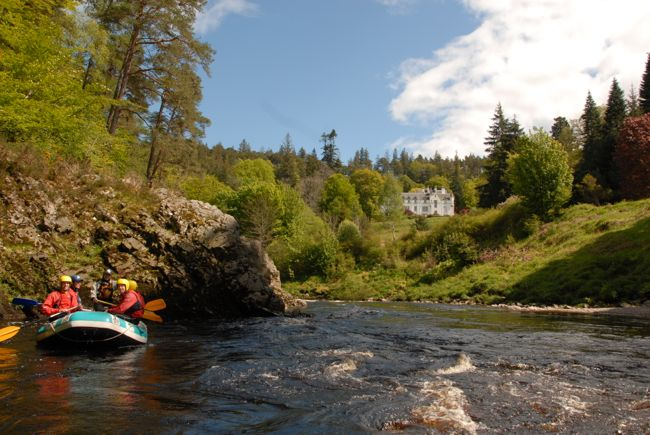 White water rafting on the River Findhorn with http://www.aceadventures.co.uk/ - taken from the river walks around Logie Steading http://www.logie.co.uk/logie-steading/river-walks