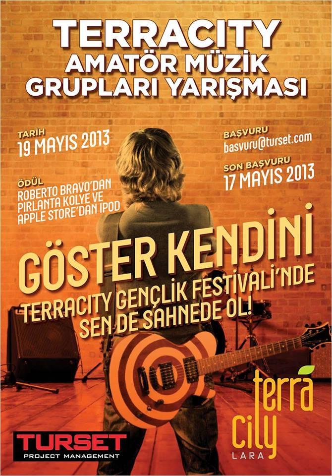 Terracity 19 Mayıs 2013 Amatör Müzik Grupları Yarışması