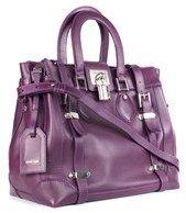 Roberto Cavalli Womens Large Florence Purple Leather Shoulder Bag.