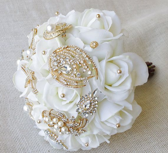 Bridal Bouquet Made Of Jewels : Best images about crown jewel brooch bouquets on