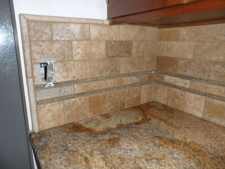 Limestone Tile Backsplash With Glass Remodel Ideas