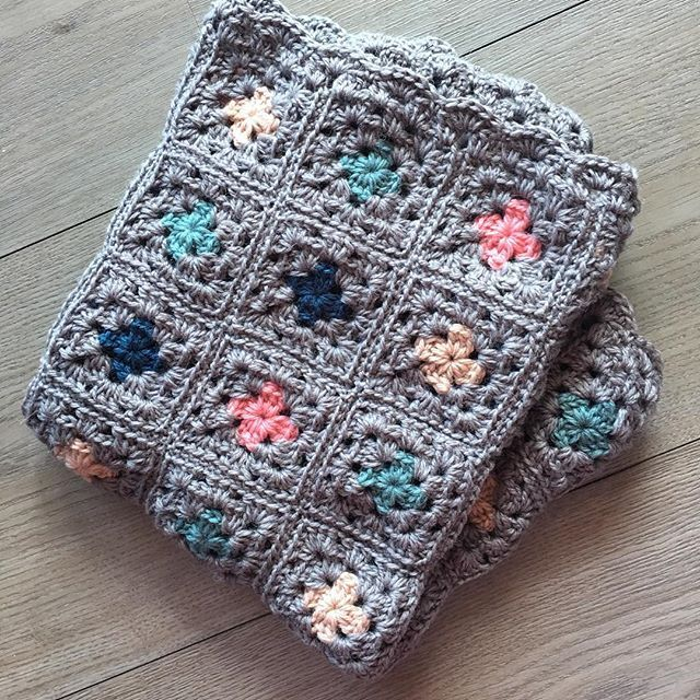 Another beautiful pram blanket finished and ready for its new family! Beautiful colours for a sweet little man. .  .  .  .  #aydamade #crochetbabyblanket #pramblanket #grannysquare #custommade #babyshowercolours #wool #familyheirloom #locallymade #sutherlandshire #sydney #babygift #crochetlove #grannysquarelove