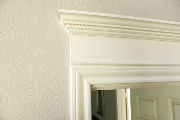 Add Crown molding on door - diy