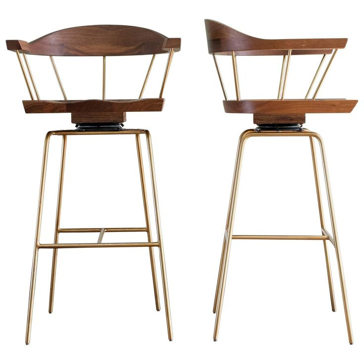 Bassam Fellows 'Spindle' Bar Stool | From a unique collection of antique and modern stools at…