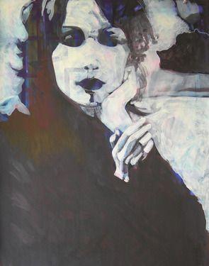 "Saatchi Online Artist Emil Valev; Painting, ""Girl smoking"" #art"