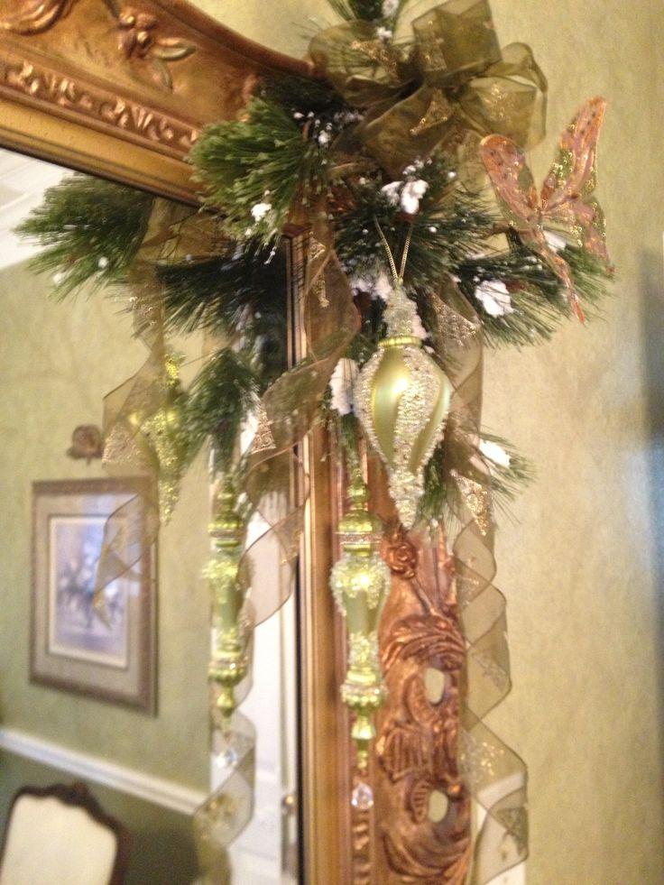 Corner of mirrorframe decorations 45 best Christmas