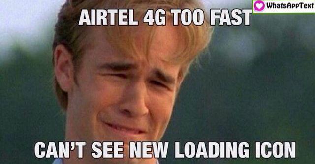 Airtel 4G Internet funny jokes