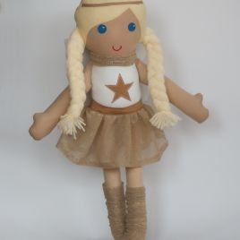 Christas angel – fabric doll, ragdoll