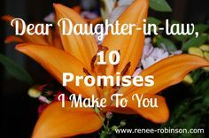 """Lord willing, I will have daughters-in-law one day. These girls I pray for daily. I want them to live freely in grace, apart from trying to please or live up to """"expectations""""."""