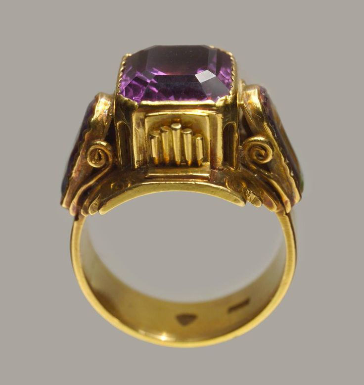 arts crafts ring | Arts and Crafts Ecclesiastical Ring at 1stdibs