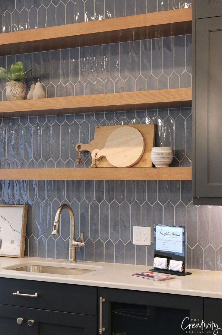 Navy blue kitchen tile #kitchendesign2019 #kitchen…
