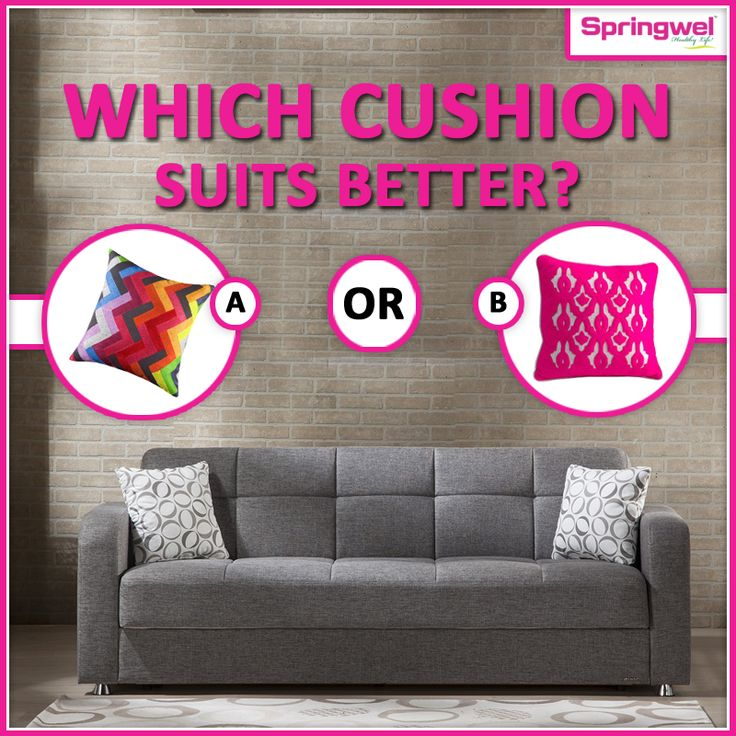 #WednesdayFun‬ : Welcome back in our weekly #quiz . Let us know which cushion suits better for this trendy sofa.