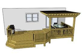 deck Designs - Google Search - It's this or a gazebo out back.
