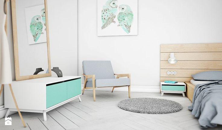 Sypialnia w stylu skandynawskim. - zdjęcie od Folds