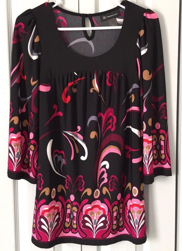 Macy's INC International Concepts Blouse Top Women's Small Shirt Retails: $30+ #INCInternationalConcepts #Tunic #CasualOrWork
