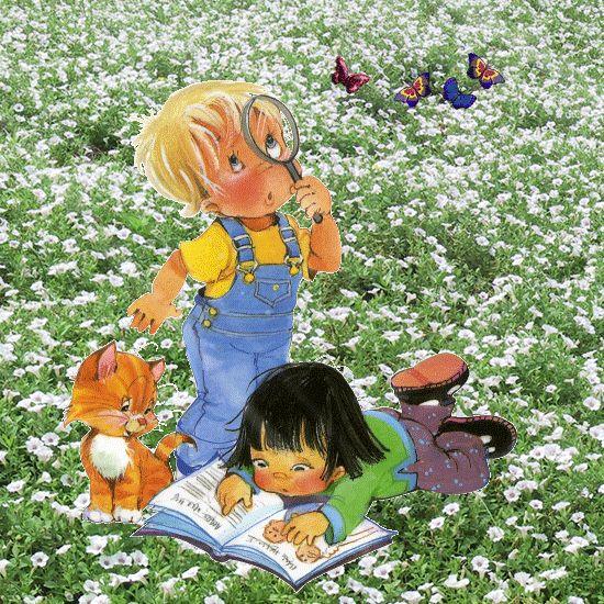 Картинки дети и книги анимашки, добрым