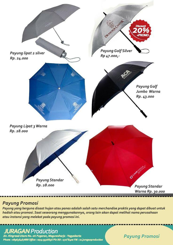20 % OFF  Payung dengan logo perusahaan nan unik dan cocok digunakan saat hujan dan panas