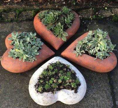 Kleeblatt mit Keramik-Herzen