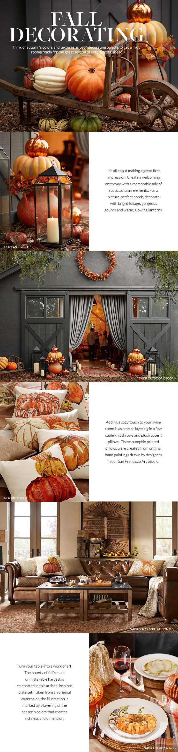 Fall Decorating | Pottery Barn