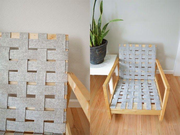 swoon studio: DIY Woven Chair Seat