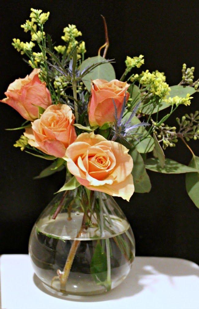 budget flower arranging via Mint Love Social Club