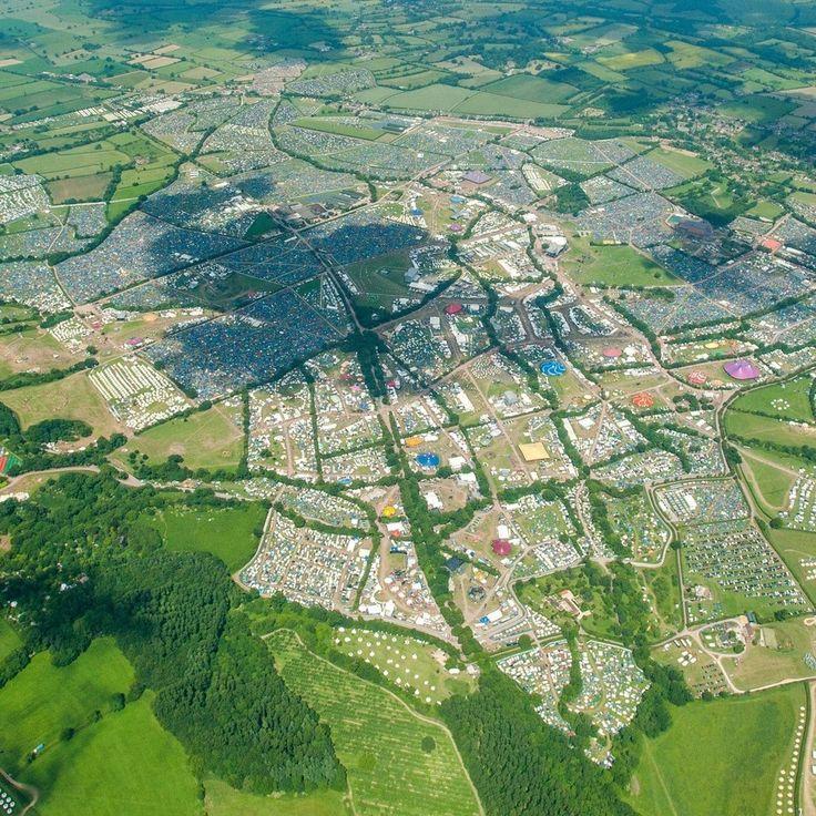 23 Surprisingly Beautiful Aerial Shots Of Glastonbury 2015