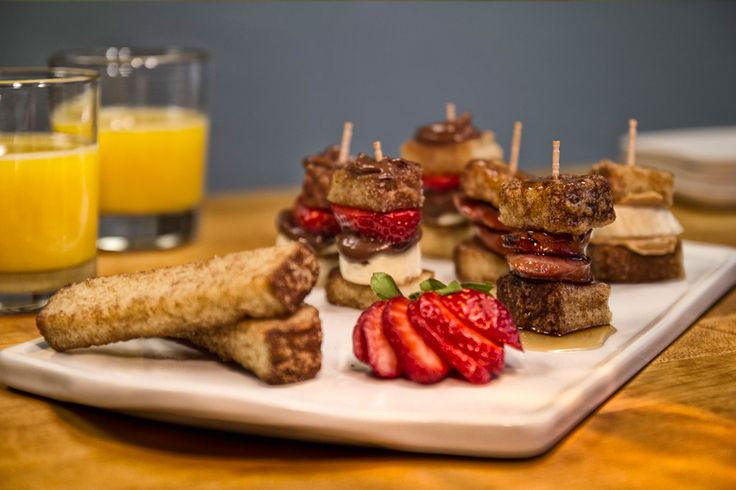 A gourmet breakfast out of your own kitchen! Try these French Toast Fruit Sandwiches using Farm Rich Cinnamon French Toast Sticks to get your daily dose of healthy and yum!