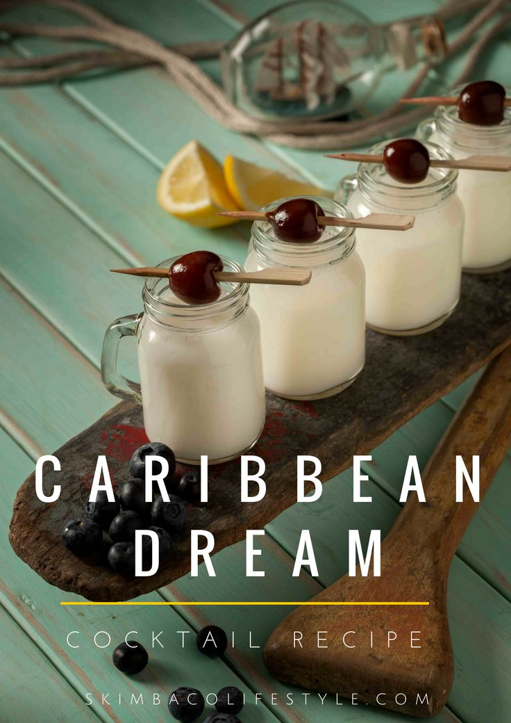 Caribbean Dream cocktail with Cruzan Rum from US Virgin Islands.