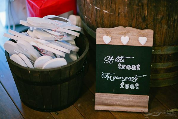 Wedding reception decor ideas gifts for wedding guest. A little treat for your party feet. Photography by The Arched Window.