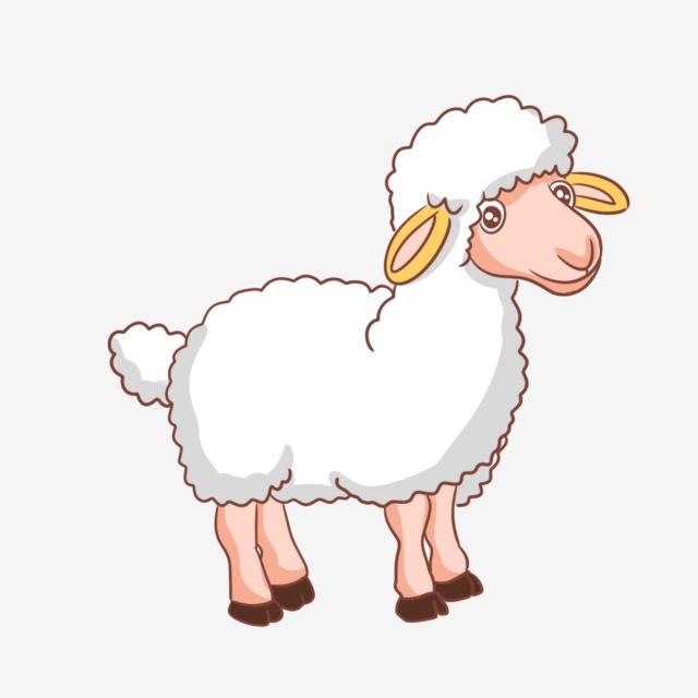 Lamb Decoration Lamb Illustration Poultry Lamb White Lamb Pretty Lamb Yellow Ears Cute Lamb Cute Clipart Lamb Clipart Cute Lamb Cute Clipart Graphic Resources