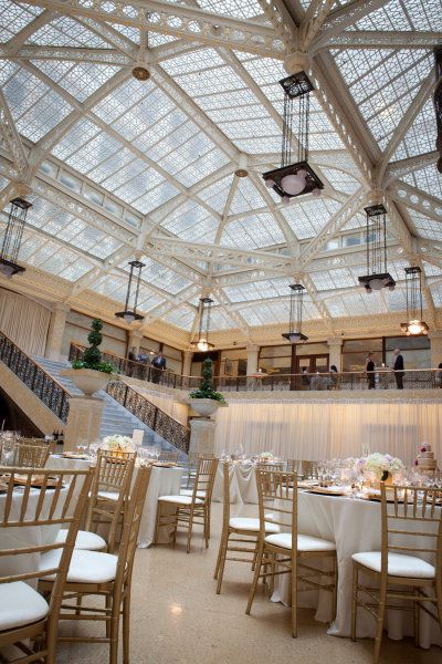 Reception: The Rookery in Chicago, Illinois, Chicago wedding at The Rookery by Gerber & Scarpelli